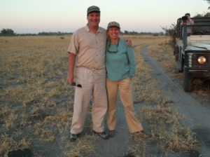 Carolyn & Steve in Botswana