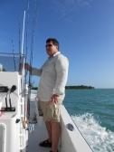 Steve on flats boat