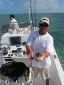 Most unusual catch of the trip - a puffer fish!