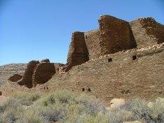 Pueblo Bonito exterior walls