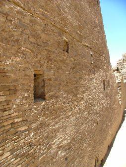 Exterior wall of Pueblo Bonito