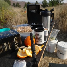 Fly tying and breakfast