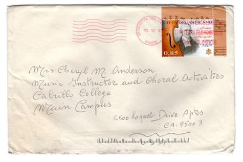 Vatican Envelope
