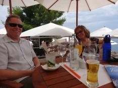 All good: friends, breeze, shade, drinks