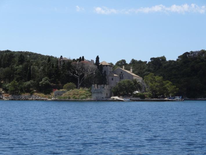 Monastery on island