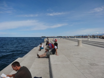 Relaxing on the sea organ