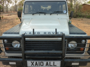 Our trusty, but dusty, Land Rover