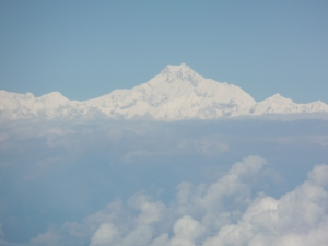 Everest from inbound flight to Paro