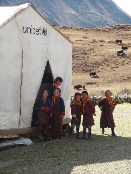 Kindergarteners at Lingshi School